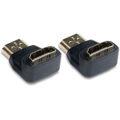 Video Devices Right Angle HDMI Type-A Male Plug to HDMI Type-A Female Jack Adapter (2-Pack)