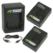 Wasabi Power Battery & Dual Charger for GoPro Hero3, Hero3+ (2-Pack)