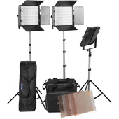 Mettle VL650 x 3 LED Light Kit with stands and bags