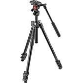 Manfrotto 290 Light 2-Stage Aluminum Tripod with Befree Live Fluid Video Head Kit
