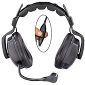 Eartec UDSC1000IL Ultra Double Inline PTT Headset for SC-1000 Radio Transceiver