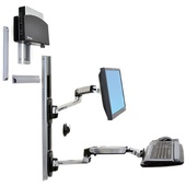 Ergotron 45-253-026 LX Wall Mount System with Small Computer Holder