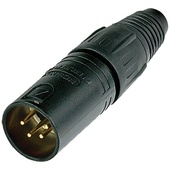 Neutrik NC4MXX-B 4-Pin XLR Male Connector