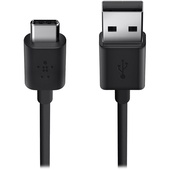 Belkin USB 2.0 Type-A to USB Type-C Charge Cable (1.8m, Black)
