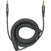 Audio-Technica Replacement Cable for ATH-M40x and ATH-M50x Headphones (Black, Coiled)