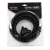 DYNAMIX Easy Wrap Cable Management Solution (Black, 2.5m x 15mm)