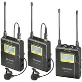 Saramonic UWMIC9 Dual Digital UHF Wireless 2x Transmitters and 1x Receiver Lavalier Mic System