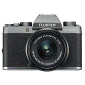 Fujifilm X-T100 Mirrorless Digital Camera with 15-45mm Lens (Silver)