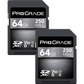 ProGrade Digital 64GB UHS-II SDXC Memory Card (2-Pack, 250 MB/s)
