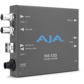 AJA Hi5-12G SDI to HDMI 2.0 Converter with Fiber Receiver