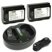 Wasabi Power Battery and Dual USB Charger for Sony FZ-100 (2-Pack)