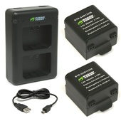 Wasabi Power Battery and Dual USB Charger for Garmin VIRB X and XE (2-Pack)