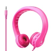 Promate Kid-Friendly Over Ear Wired Headphones (Pink)