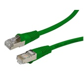 DYNAMIX Cat6A SFTP 10G Slimline Patch Lead (Green, 1 m)