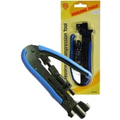 HANLONG Compression Crimp Tool for RG59, RG6 F,BNC,RCA and RG11 F