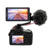 "Feelworld F6 5.7"" 4K HDMI On-camera Monitor with Tilt Arm"