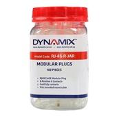DYNAMIX RJ-45 Modular Plug Jar (Round, Stranded, 100 Pieces)
