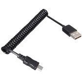 365Films Mini-USB Male to USB Male Coiled Cable