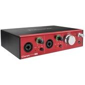 Focusrite Clarett 2Pre USB 10 in 4 out USB Audio Interface with MIDI I/O for Mac & PC
