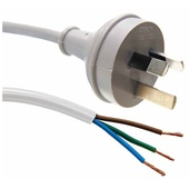DYNAMIX 3-Pin Plug to 3 Core 1mm Bare End Cable (White, 1 m)