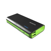 ADATA PT100 Power Bank with Flashlight (Black/Green, 10000mAh)