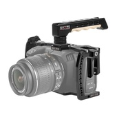 SHAPE Blackmagic Pocket Cinema 4K Camera Cage with Wooden Top Handle