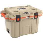 Pelican 50QT Elite Cooler (Tan & Orange)