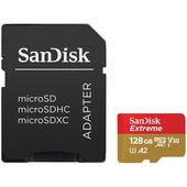 SanDisk 128GB Extreme UHS-I microSDXC Action Cam Memory Card with SD Adapter