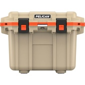 Pelican 30QT Elite Cooler (Tan/Orange)