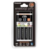 Panasonic Eneloop Quick Charger + 4 AA Eneloop Pro Batteries