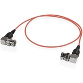 """SHAPE 90-Degree Skinny BNC Cable 24"""" (Red)"""