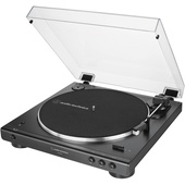 Audio Technica AT-LP60XBT Fully Automatic Wireless Belt-Drive Turntable (Black)