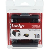 Evolis Badgy Consumable Pack for Badgy100 & Badgy200 Card Printers (100 Prints)