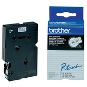 Brother TC-291 9mm x 8m Black on White Label Tape