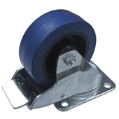 """Penn Elcom W9008-V6 100mm/3.94"""" Castor Swivel Wheel with Brake (Blue)"""