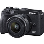 Canon EOS M6 Mark II Mirrorless Digital Camera with 15-45mm Lens (Black)
