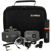 Comica Audio CVM-WS50B Wireless Lavalier Microphone System for Smartphones