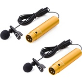 Movo Photo LV-6 Cardioid and Omnidirectional Lavalier Condenser Microphone Set