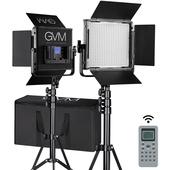 GVM Bi-Colour LED Video 2-Light Kit (Black, 34cm)