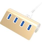 Sabrent USB 3.0 4-Port Aluminium Hub (Gold)