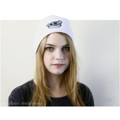 Rubber Monkey Beanie - White