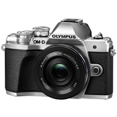 Olympus OM-D E-M10 Mark III Mirrorless Camera with 14-42mm Lens (Silver)