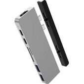 Hyper HyperDrive DUO 7-in-2 USB-C Hub for MacBook Pro/Air (Silver)