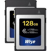 Wise Advanced 128GB CFX-B Series CFexpress Memory Card (2-Pack)
