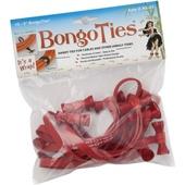 BongoTies Elastic Cable Ties (Red, 10 Pack, 12.7cm)