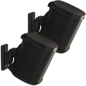 SANUS WSWM22 Wireless Speaker Wall Mounts for the Sonos One, PLAY:1, & PLAY:3 (Black, Pair)