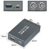 Mini 3G SDI to HDMI / HDMI to SDI with usb power
