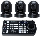 BirdDog Eyes P200 1080p Full NDI PTZ Camera Bundle (Black)