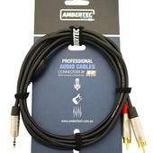 Ambertec AMB0-MRR-M1-030 Cable REAN 3.5mm TRS plug - 2 x RCA plug (3m)