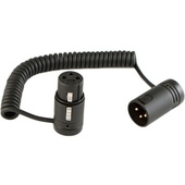 """Cable Techniques Coiled Jumper Cable - Low-Profile XLR 3-Pin Female to XLR 3-Pin Male (6 to 15"""")"""